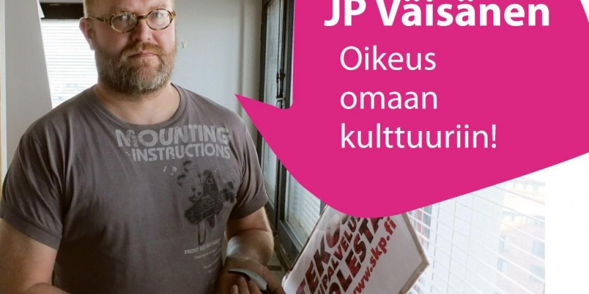 """JP Väisänen: """" Vuodessa lähes 10 000 asukkaan vauhdilla kasvavalla kaupungilla - Helsingillä on luonnollinen tarve järjestää kulttuuripalveluja erilaisille vähemmistöille"""""""